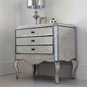 jacqueline silver trimmed chest of drawers by out there interiors | notonthehighstreet.com