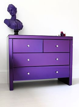 serenity purple glass chest of drawers by out there interiors | notonthehighstreet.com
