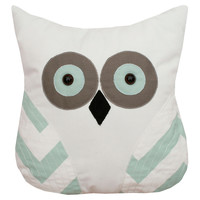 Owl 12x12 Pillow, Gray, Decorative Pillows