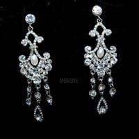 Pearl Chandelier Earrings - Bridal Earring - Elegant Earrings - Gift | Luulla