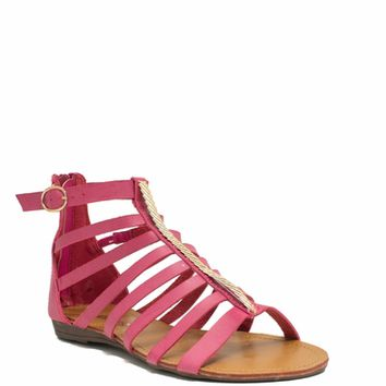 Metallic Touch Gladiator Sandals