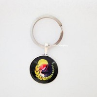 Horoscope Virgo Astrology Keychain Zipper August September Artfire | LittleApples - Accessories on ArtFire