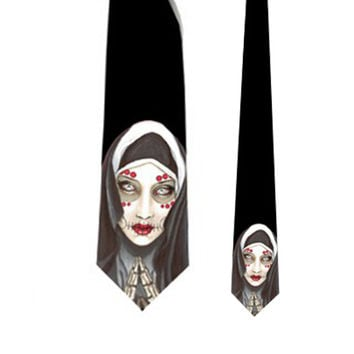Praying Dia de los Muertos Nun Neck Tie