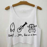 Surf Jam Live Van crop top