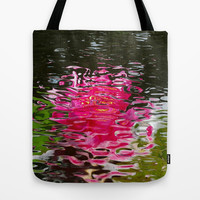 Pastel Water Ripples Tote Bag by MargaretNewcombArt