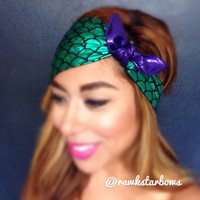 The Little Mermaid/Ariel inspired Headband Rockabilly Turban