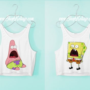 Surpriesed Bff Crop Tank Top