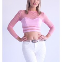 Leah's Pink Sheer Top