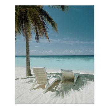 Palm Tree and Beach Chair 2