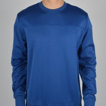 Hugo Boss Green Salbo Crew Sweatshirt 50260334 - Blue