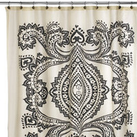 Amy Butler Bucharest Fabric Shower Curtain