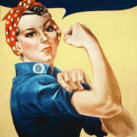Rosie the Riveter (We Can Do It!) Plastic Sign