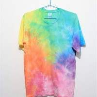 Rainbow Color Tie Dye T Shirt 052830 T0610