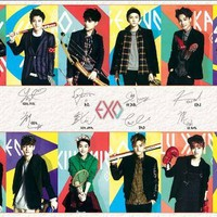 J-4725 EXO K ,Exo M Group K-pop Music, Korean Boy Band Poster - Rare New - Image Print Photo 24x35