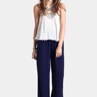 Deep Sea Wide-Leg Pants