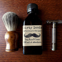 Men&#x27;s Aftershave/Cologne Bay Rum and Lime by DirtyDeedsSoaps