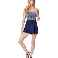 KNIT TO WOVEN ROMPER