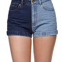 Bullhead Denim Co Domino Mom Shorts - Womens Shorts - Blue -