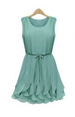 Alice In Wonderland Whimsical Petals Green Chiffon Dress. Summer Dress | GlamUp - Clothing on ArtFire