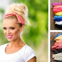 RESTOCK! Pin-Up Inspired Vintage Headbands-21 Color Options!