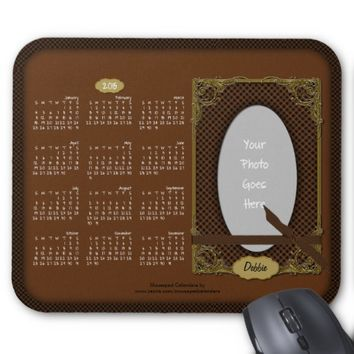 2015 Calendar Mousepad-Tartan Brown n Black