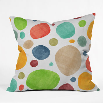 Nick Nelson Bursts Throw Pillow