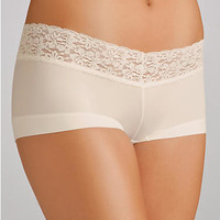 Maidenform The Dream Collection Boyshort with Lace Panty 40813 at BareNecessities.com