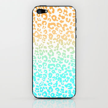 Neon Leopard iPhone & iPod Skin by Monika Strigel | Society6