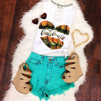 Love California Pineapples Top