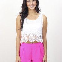 Lace Crop Top » Vertage Clothing