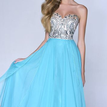 Strapless Sweetheart Gown by Nina Canacci