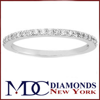 Wedding Band - Round Diamond Pavé Set Wedding Band 0.21 tcw. In 14K White Gold