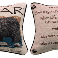 Advice From A Bear Pillow : Log Cabin Styles