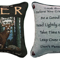 Advice From A Deer Pillow : Log Cabin Styles