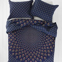 Magical Thinking Meadow Paisley Medallion Duvet Cover- Blue