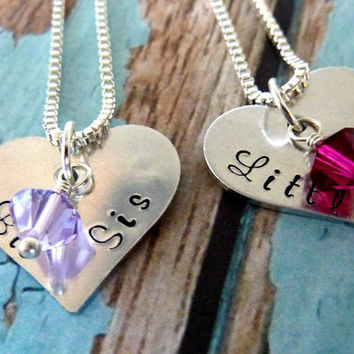 Big Sister Little Sister Necklace Set Sister Necklace Set Personalized Jewelry Necklace for Sisters