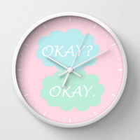 Okay Okay - Breast Cancer Awareness Pink, The Fault in Our Stars Wall Clock by BeautifulHomes | Society6