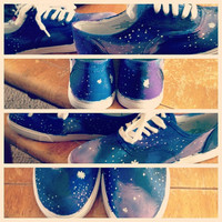 Galaxy Shoes by rachelletoms on Etsy