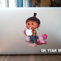 Little girl macbook decal/Decal for Macbook Pro, Air or Ipad/Stickers/Macbook Decals/Apple Decal for Macbook Pro / Macbook Air/laptop 1340