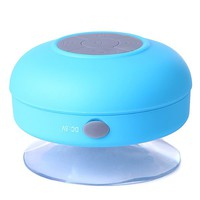 HDE Portable Waterproof Mini Bluetooth Shower Pool Speaker w/ Suction Mount & Handsfree Calling - Blue
