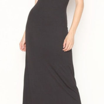 In Style Black Tank Maxi Dress