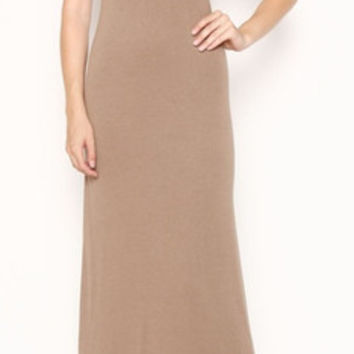 In Style Mocha Tank Maxi Dress