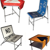 Street Furniture: 10 Stolen Signs Turned into New Designs | Designs & Ideas on Dornob
