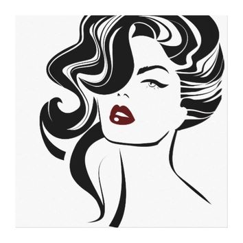 Retro girl Wrapped Canvas
