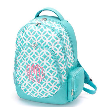 Aqua Sadie Back Pack- back to school -Monogram Included- bookbag
