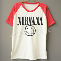 Nirvana T-Shirts Nirvana Shirt Alternative Rock Tee Shirt Short Sleeve T-Shirt Short Baseball Shirt Unisex T-Shirt Women T-Shirt Men T-Shirt