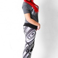 White Chilkat Leggings
