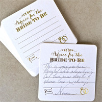 Set of 10 Advice for the Bride To Be Coasters