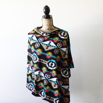Southwestern Poncho/ Nursing Poncho/ Tribal Poncho/ Breastfeeding Cover/ Nursing Shawl/ Summer Poncho/ New Mom Gift