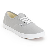 Vans Girls Authentic Lo Pro High Rise Grey & True White Shoe
